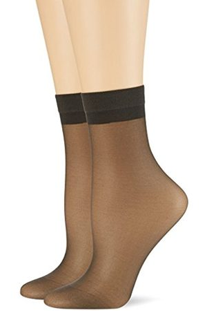 Palmers Women's Samtweiches Söckchen Skin Doppelpack Socks, 20 Den, -Schwarz (Anthrazit 905)