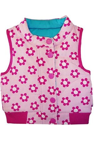 Toby Tiger Unisex Baby Reversible Cord Gilet Daisy Jacket / Turquoise 2 - 3 Years