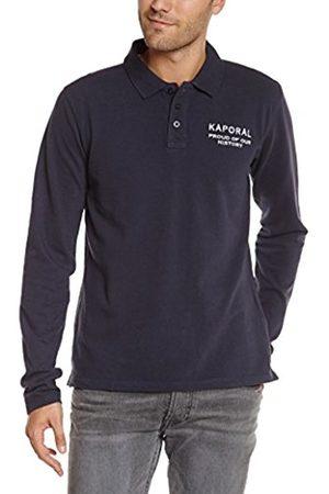 Kaporal 5 Men's Plain or unicolor Button Front Long sleeve Polo Shirt - - Medium