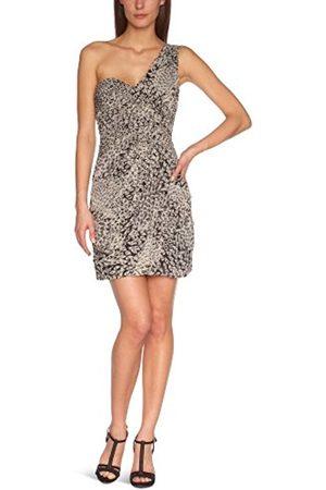 Manoukian Women's AHT6M950 Cocktail Dress - - Noir ( /Champagne) - 18 (Brand size: 44)