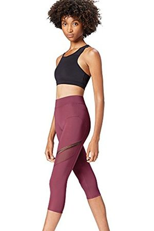 FIND Women's Mesh-Panel Cropped Sports Leggings