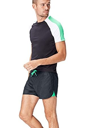FIND Men's Taffeta Active Sport Shorts, Schwarz