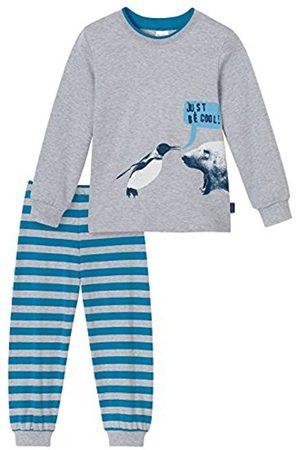 Schiesser Boy's Kn Schlafanzug Lang Pyjama Sets, -Grau (Grau-Mel. 202)