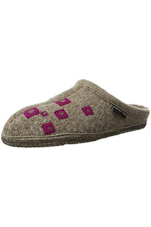 Haflinger Unisex Adults' Walktoffel Geo Open Back Slippers Size: 5 UK