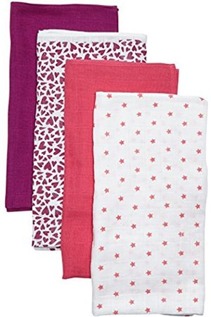 CARE LABEL Baby Girls' Cloth, 4-Pack, Multicoloured