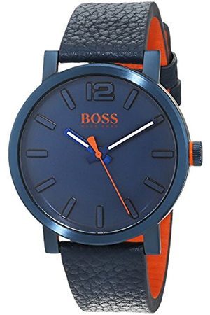 HUGO BOSS Mens Analogue Classic Quartz Watch with Leather Strap 1550039