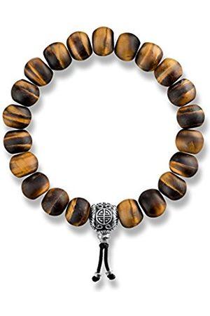 Thomas Sabo Women 925 Sterling Silver Tiger's Eye Charm Bracelet of Length 16cm A1703-826-2-L16