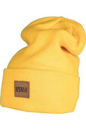 Urban classics S Leatherpatch Long Beanie