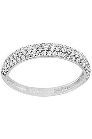 Citerna 9 ct Gold Half Eternity Ring with Cz Stones