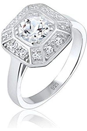Elli PREMIUM Women Silver Solitaire Engagement Ring - 0608791017_56