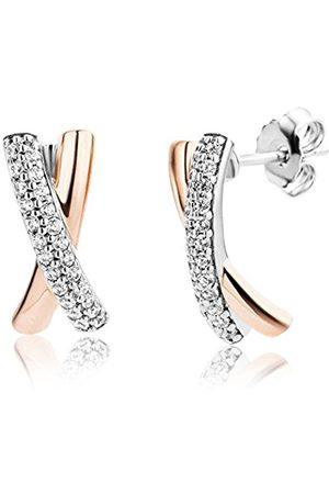 Miore Earrings Women Zirconia Rose plated 925 Sterling