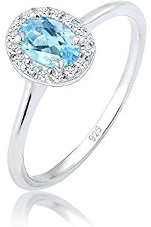 Elli PREMIUM Women Silver Engagement Plain Band Ring - 0608460817_58