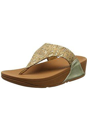 FitFlop Women's Lulu Thong Mirror/Cork Open Toe Sandals