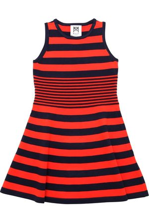Milly STRIPED VISCOSE BLEND KNIT OTTOMAN DRESS