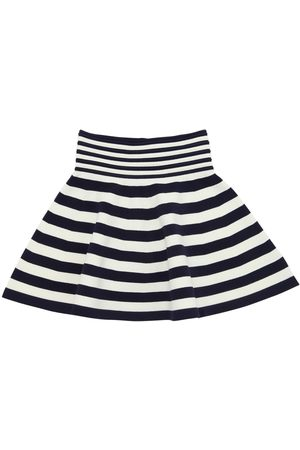 Milly Girls Skirts - STRIPED VISCOSE BLEND KNIT OTTOMAN SKIRT