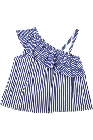 Milly Girls Tops - STRIPED COTTON POPLIN TOP