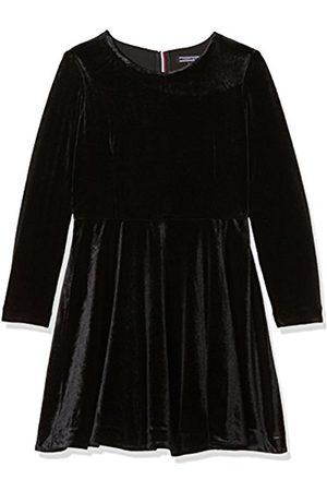 Tommy Hilfiger Girl's H Solid Velvet L/s Dress