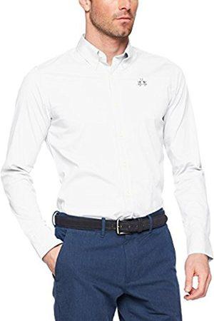 La Martina Men's Man L/S Poplin Stretch Casual Shirt