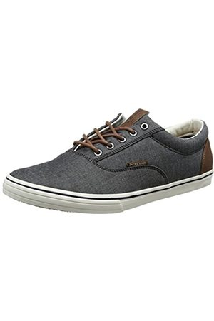Jack & Jones Men Trainers - Men's Jfwvision Chambray Mix SS Anthracite Low-Top Sneakers