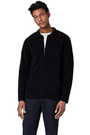 FIND Men's Wool Mix Zip Through Cardigan