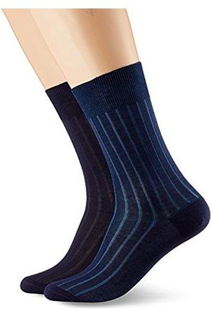 Dim Men's Mi-Chaussette Fil d'Ecosse Côtes Fines x2 Socks
