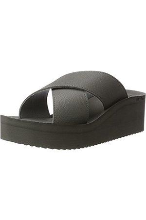 flip*flop Flip*flop Women's Plateau Cross Open Toe Sandals grey Size: 7 UK