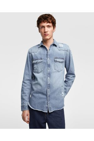 c76137a895 Zara ripped men s shirts   blouses