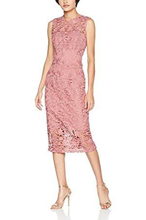 Little Mistress Women's Rosette Crochet Lace Bodycon Party Dress