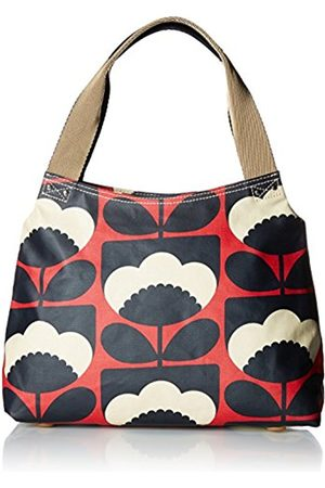 Orla Kiely Womens Classic Zip Shoulder Bag Messenger Bag (Poppy)