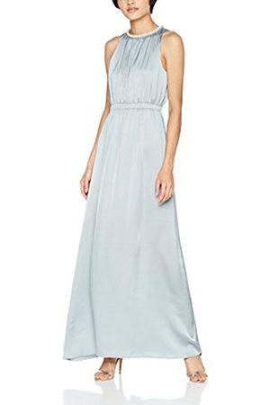 Little Mistress Women's Cornflower Faux Pearl Satin Maxi Party Dress