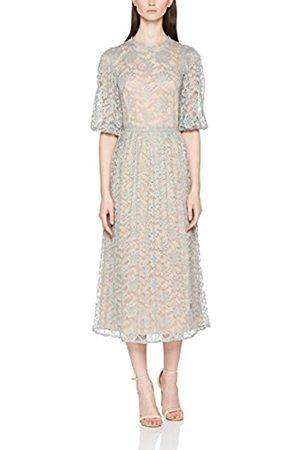 Little Mistress Women's Waterlily Lace Contrast Pleats Party Dress