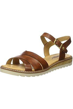 Pikolinos Leather Flat Sandals Alcudia W1L