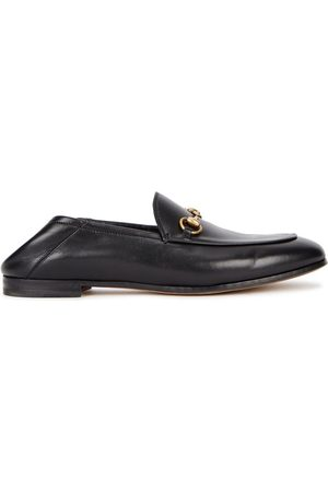 Gucci Women Loafers - Brixton Horsebit Leather Loafers