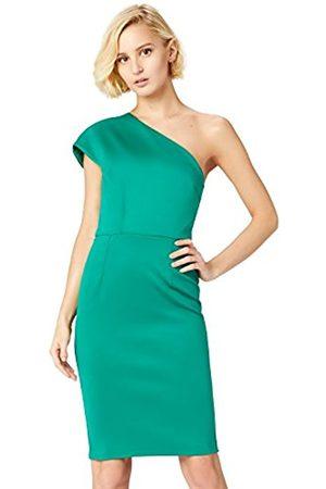 TRUTH & FABLE Women's One Shoulder Scuba Party Dress