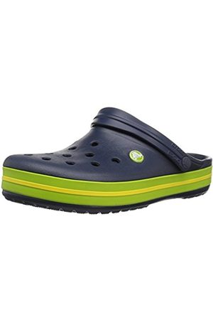Crocs Unisex Adults' Crocband Clogs, (Navy/Volt Green/Lemon)