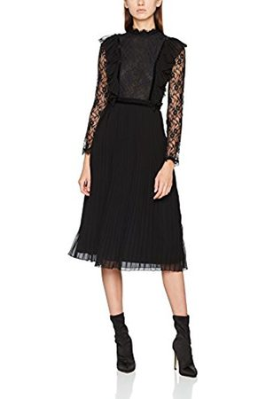 warehouse Women's Pleat & Lace Party Dress