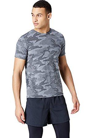 FIND Men's Short Sleeve Jacquard Camo Sport Shirt