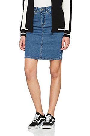 Vero Moda Women's Vmhot Nine Hw DNM Pencil Skirt Mix Noos Medium Denim
