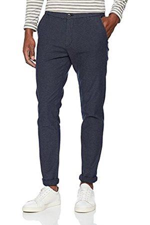 Selected Homme Men's Shharval Blue Mix Slim Pants STS Trouser