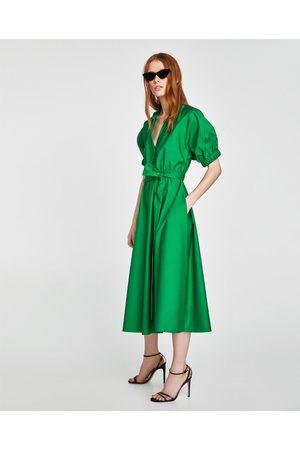 Zara kleid midi grun