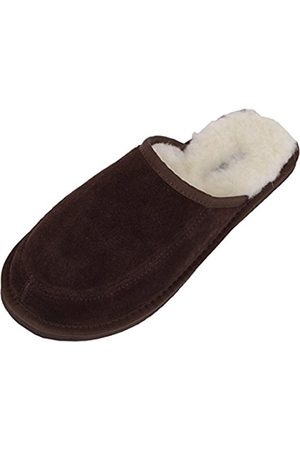 Snugrugs Wool Lined Suede Mule Slippers With Lightweight Sole