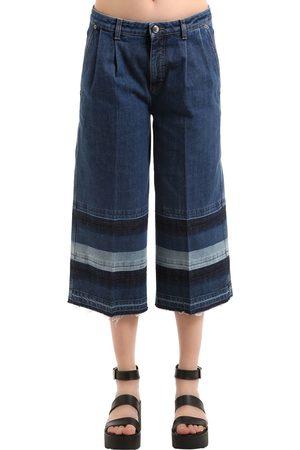 Sonia by Sonia Rykiel Women Jeans - DENIM JEANS WITH STRIPED RELEASED HEM