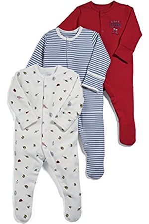 Mamas & Papas Mamas and Papas Baby Boys' Pack Of 3 Fishing Sleepsuits Footies