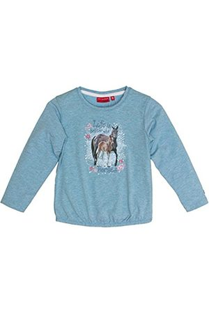 Salt & Pepper Girl's Horses UNI Photo Longsleeve T-Shirt