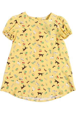 VIVETTA DOG PRINTED VISCOSE DRESS