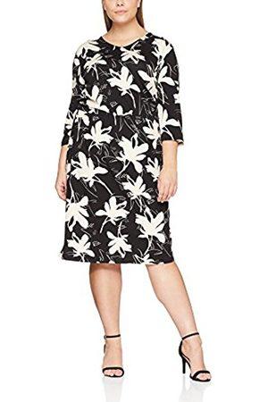 Ulla Popken Women's Jerseykleid MIT Blumenprint Dress