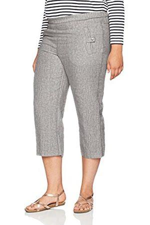 Ulla Popken Women's Plus Size Comfort Fit Lightweight Linen Pants Melange 16 667051 14-42