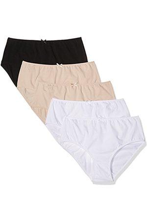 Ulla Popken Women's Plus Size 5-Pack Of Classic Cotton Panties Multi 16/18 700384 90-42+