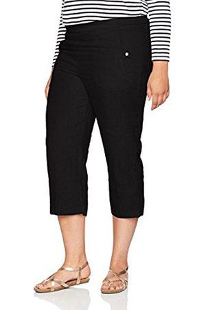 Ulla Popken Women's Kurze 7/8 Leinenhose MIT Elastischem Bund Trousers