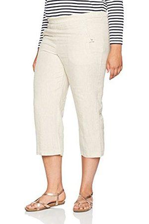 Ulla Popken Women's Plus Size Comfort Fit Lightweight Linen Pants Natural 16 667051 21-42